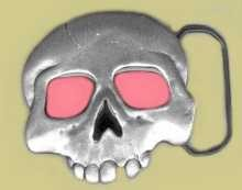 """Skull"" Heavy Cast Epoxy Inlay Buckle - EB2009"