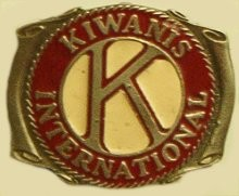 """Kiwanis"" Heavy Cast Epoxy Inlay Buckle - EB2022"