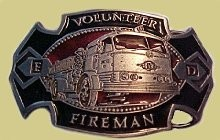 "Volunteer Fireman Epoxy Buckle ""A"" Series Heavy Cast Epoxy Inlay Buckle - EB2024A"