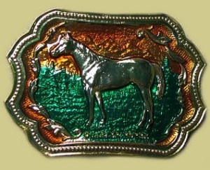 """Horse"" Heavy Cast Epoxy Inlay Buckle - EB2051"