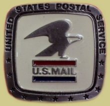 """United States Postal Service"" Heavy Cast Epoxy Inlay Buckle - EB2065"