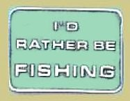 """I'd Rather Be Fishing"" Heavy Cast Epoxy Inlay Buckle - EB2066"