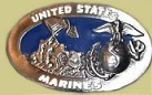 """US Marines"" Cast Epoxy Inlay Buckle - EB2087"