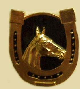 """Horsehoe"" Heavy Cast Epoxy Inlay Buckle - EB2144"