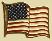 """U.S. Flag"" Heavy Cast Epoxy Inlay Buckle - EB2155"