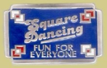 "Square Dancing ""A"" Series Heavy Cast Epoxy Inlay Buckle - EB2196A"