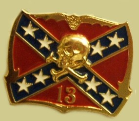 """Rebel Flag w/Skull & Crossbones"" Heavy Cast Epoxy Inlay Buckle - EB2257"