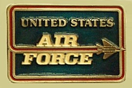 """United States Air Force"" Heavy Cast Epoxy Inlay Buckle - EB2283"