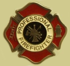 """Professional Firefighter"" Heavy Cast Epoxy Inlay Buckle - EB2287"