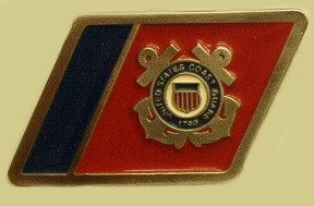"""United States Coast Guard"" Heavy Cast Epoxy Inlay Buckle - EB2290"