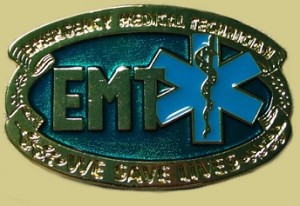 """Emergency Medical Service Epoxy Buckle"" Heavy Cast Epoxy Inlay Buckle - EB2292"