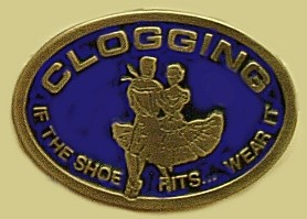 """Clogging- If The Shoe Fits...Wear It "" Heavy Cast Epoxy Inlay Buckle - EB2293"