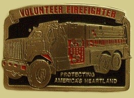 """Volunteer Fireman Epoxy Buckle"" Heavy Cast Epoxy Inlay Buckle - EB2294"