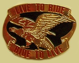 """Live To Ride Ride To Live"" Heavy Cast Epoxy Inlay Buckle - EB2323"