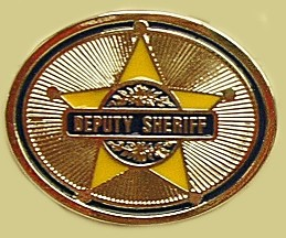 """Deputy Sheriff"" Heavy Cast Epoxy Inlay Buckle - EB2339"