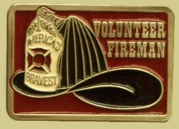 """Volunteer Fireman Epoxy Buckle"" Heavy Cast Epoxy Inlay Buckle - EB2341"