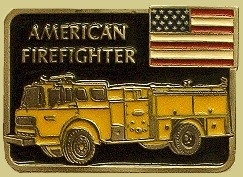 """American Firefighter"" Heavy Cast Epoxy Inlay Buckle - EB2342"