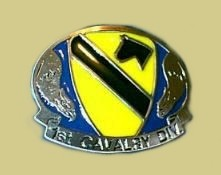 """US Army 1st Cavalry"" Heavy Cast Epoxy Inlay Buckle - EB2368"