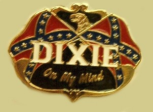 """Dixie On My Mind"" Heavy Cast Epoxy Inlay Buckle - EB2390"
