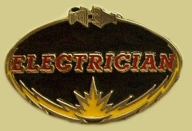 """Electrician"" Heavy Cast Epoxy Inlay Buckle - EB2392"