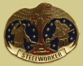 """Steelworker"" Heavy Cast Epoxy Inlay Buckle - EB2395"