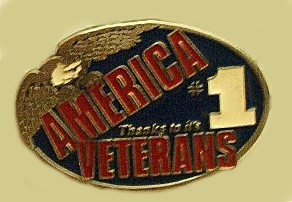 """Thanking Americas Veterans"" Heavy Cast Epoxy Inlay Buckle - EB2402"
