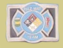 """Haz Mat Team"" Heavy Cast Epoxy Inlay Buckle - EB2407"