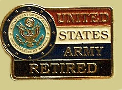 """United States Army Retired"" Heavy Cast Epoxy Inlay Buckle - EB2411"