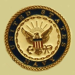 """United States Navy "" Heavy Cast Epoxy Inlay Buckle - EB2420"