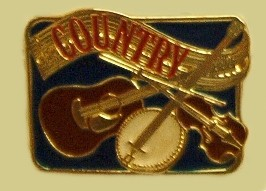 """Country Music Epoxy Buckle"" Heavy Cast Epoxy Inlay Buckle - EB2425"