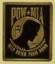"""POW/MIA"" Heavy Cast Epoxy Inlay Buckle - EB2430"