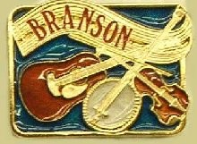"""Branson Missouri Music"" Heavy Cast Epoxy Inlay Buckle - EB2436"