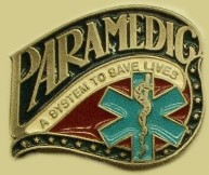 """Paramedic A System to Save Lives"" Heavy Cast Epoxy Inlay Buckle - EB2439"