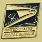 """United States Postal Service"" Heavy Cast Epoxy Inlay Buckle - EB2440"