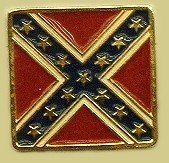 """Confederate Battle Flag"" Heavy Cast Epoxy Inlay Buckle - EB2457"