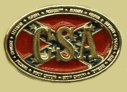 """Confederate States CSA"" Heavy Cast Epoxy Inlay Buckle - EB2458"