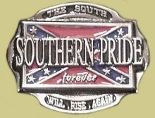 """Southern Pride Forever"" Heavy Cast Epoxy Inlay Buckle - EB2459"