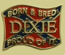 """Born & Bred In Dixie"" Heavy Cast Epoxy Inlay Buckle - EB2474"