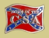 """Born in the CSA"" Heavy Cast Epoxy Inlay Buckle - EB2475R"