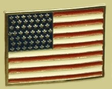 """United States Flag"" Heavy Cast Epoxy Inlay Buckle - EB2493"