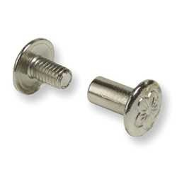 "Nickel Solid Brass 1/4"" Chicago Screw W/Floral Design (100 Pack) - 128104FNSBC"