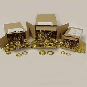 "Solid Brass Grommet and Washer 1/4"" #0 (144ct  Pack) - OTG10SBGR"