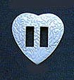 "1"" Stamped Vertical Slotted  Heart Concho (100 pack) - CH131716C"