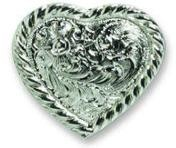 Rope Edge Heart Shaped Concho - CH827816SP