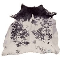 Salt & Pepper Hair-On Cowhide, Medium ( 33 - 39 sq. ft. ) - Z911704M