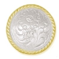 "1 1/4"" Sierra Silver & Gold Plated Concho - CH794120"