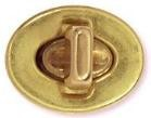 Solid Brass Antique Turn Style Clasp - BC2109SB