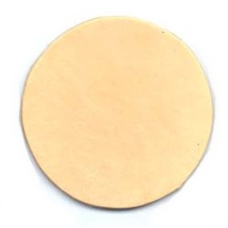2-5/16in Leather Rounder/Coaster (10-Pk)