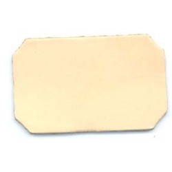 Rectangular Clipped Corner Leather Piece (10-Pk)