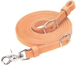 5/8in x 7ft Natural Skirting Roper Reins W/Solid Brass Hardware